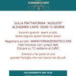 Alzheimer Caffè ONLINE, GRATUITI, APERTI A TUTTI, ogni 15 giorni